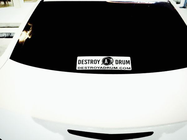 Destroy A Drum Large Decal