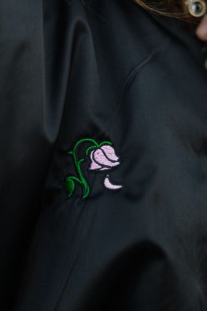 Embroidered She Destroys Bomber Jacket