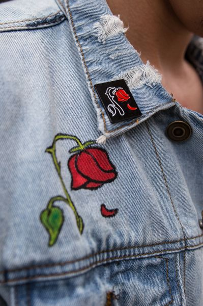 Red Floral Pin