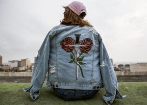 She Destroys 1 OF 1 Hand Painted Denim Jacket