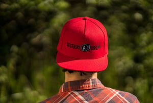 Destroy A Drum Red Snapback