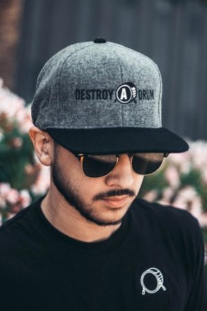Destroy A Drum Wool Leather Snapback