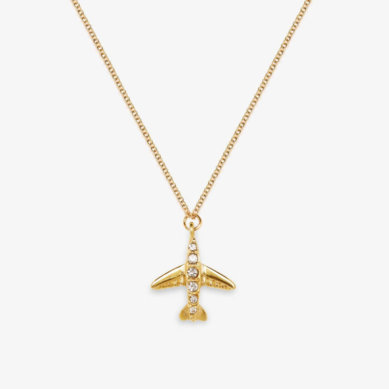 Airplane Necklace (Gold)