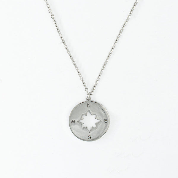 Compass Necklace (Silver)