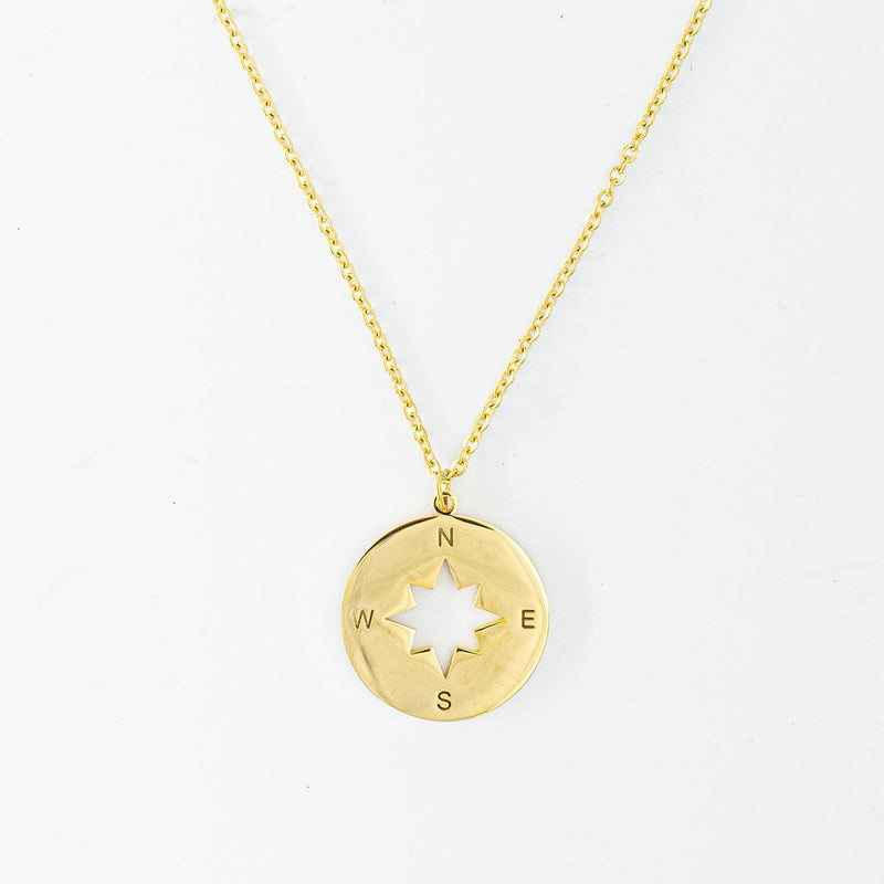Compass Necklace (Gold)