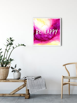 Be Happy 8x8""