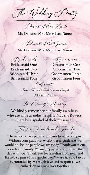 Blush & Paynes Gray Wedding Suite