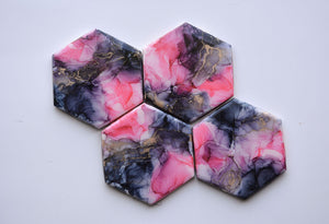 Hot Pink Chaos Coasters