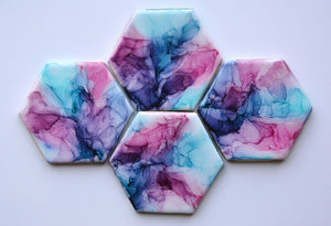 Cotton Candy Coasters