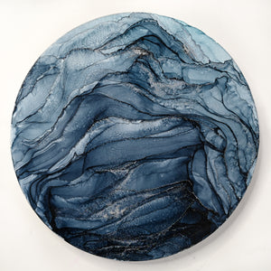 Blue Ripple Mountain Moon 8""