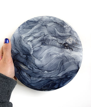 Gray Ripple Mountain Moon 8""