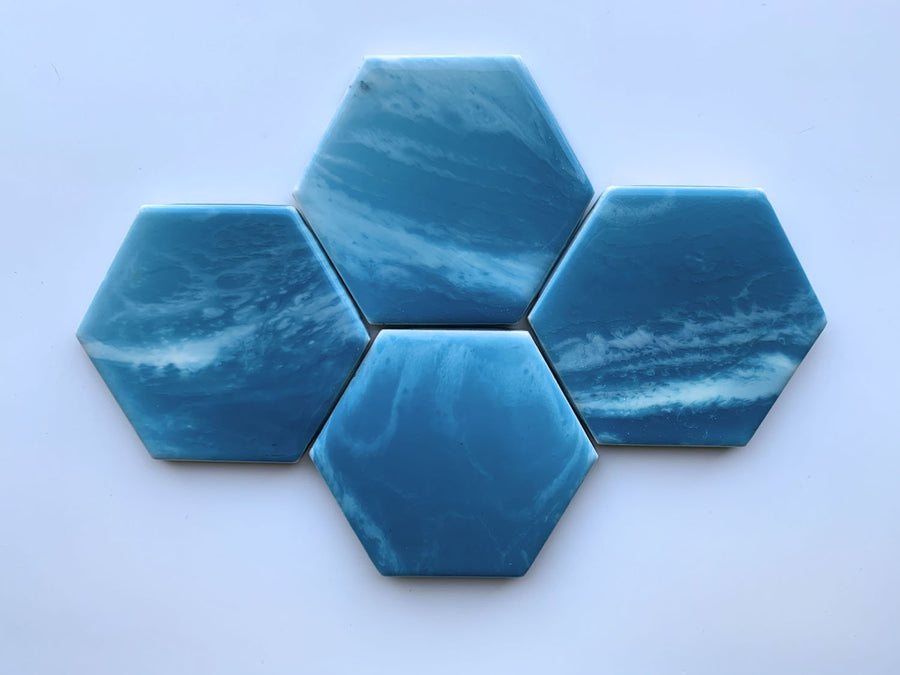 Soft Aqua Waters II Coasters