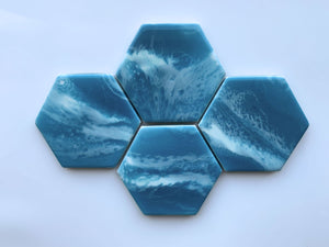Soft Aqua Waters Coasters