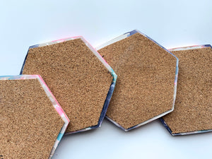 Blush and Blues Coasters