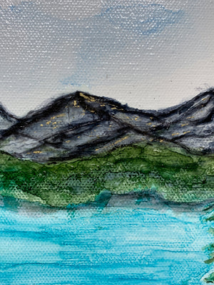 Mountain Landscape Mini 5x7""