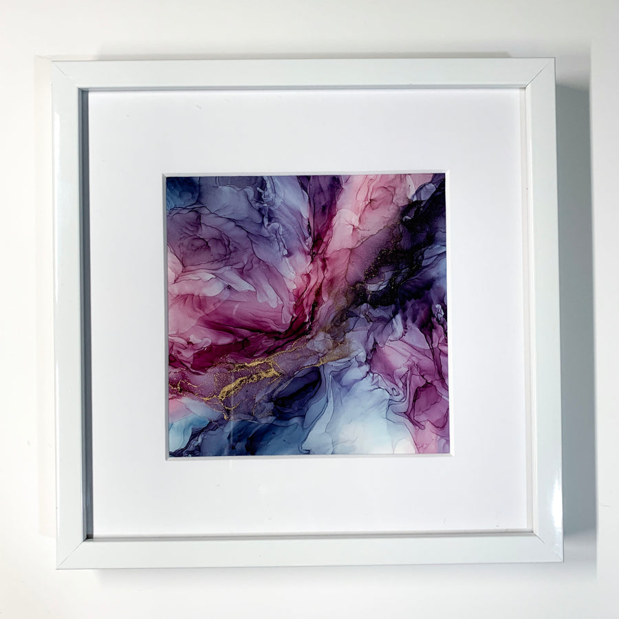 Berry Tie Dye Framed Mini