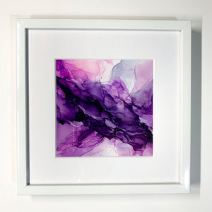Purple Pow Framed Mini