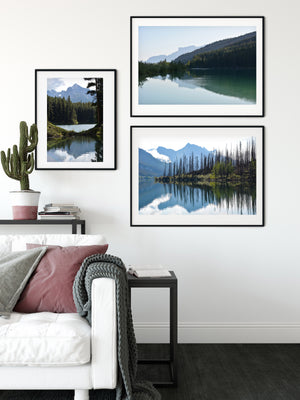 Green Mountain Lake Morning Print