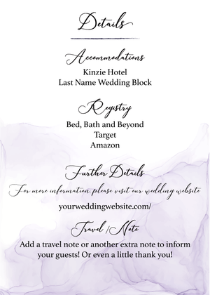 Pastel Purple Wedding Suite