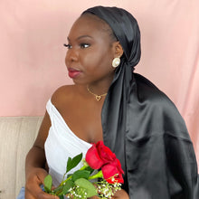 Load image into Gallery viewer, Noire Silk Headwrap