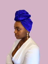 Load image into Gallery viewer, Royal Raw Silk Headwrap