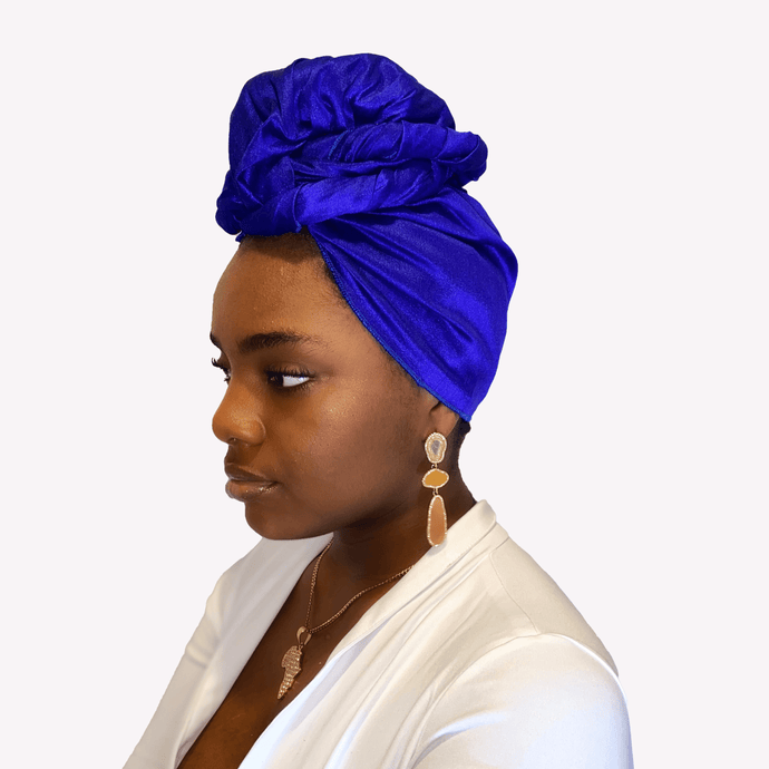 Royal Raw Silk Headwrap