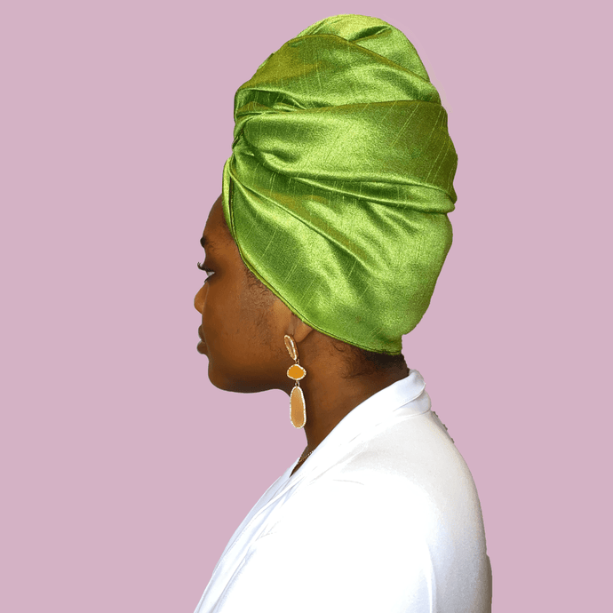 Verte Raw Silk Headwrap