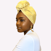 Load image into Gallery viewer, Goldie Raw Silk Headwrap