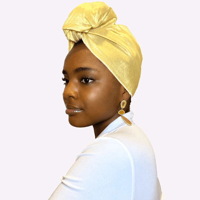 Goldie Raw Silk Headwrap