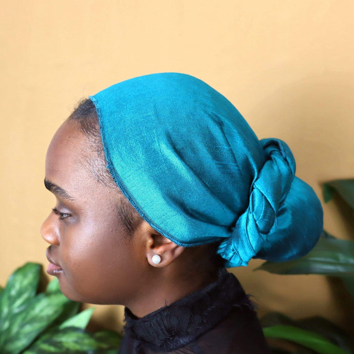 Simdi Raw Silk Headwrap