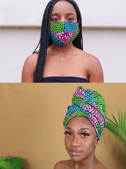 Zizi Headwrap and Mask Set