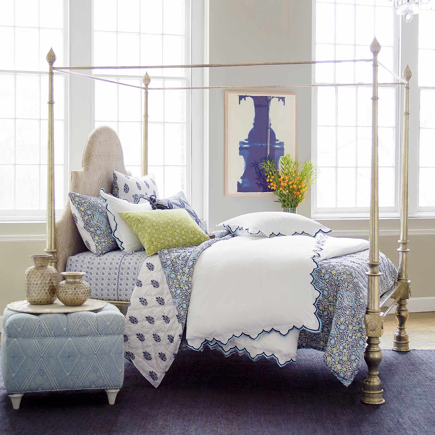 Sakuna Indigo Bed Collection