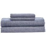 Cabatti Indigo Linen Sheet Set