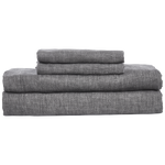 Cabatti Washed Linen Sheet Set in Gray