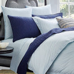 Chevron Light Indigo Organic Sheets