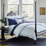 Chevron Light Indigo Duvet