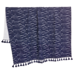 Shibori Indigo Throw