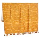 Shibori Saffron Throw