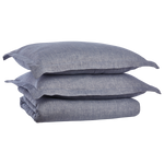 Cabatti Washed Linen Duvet Set in Indigo