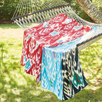 Umida Ikat Black Beach Towel