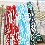 Umida Ikat Madder Beach Towel
