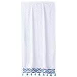 Aloka Teal Bath Towels