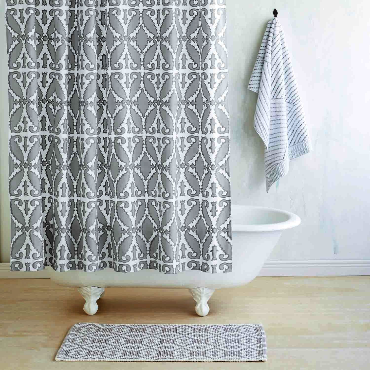 Khoma Gray Shower Curtain