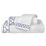 Linah Indigo Embroidered Bath Towel