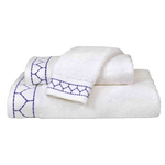 Linah Periwinkle Embroidered Bath Towels