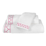 Linah Pink Embroidered Bath Towel