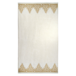 Nadir Pearl White/ Gold Bath Towel