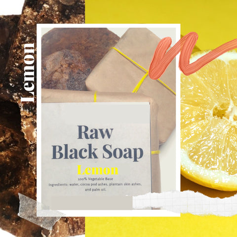 CITRUS Infused Raw African Black Soap