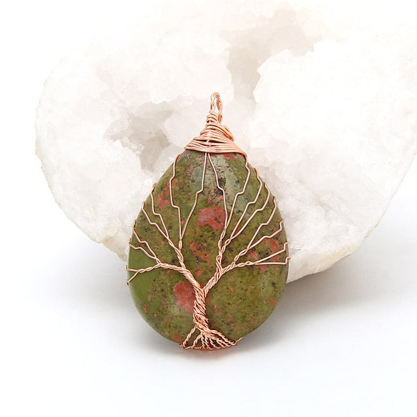 Tree of Life Opal Stone Pendants