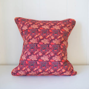 Magnolia Pillow in Burgundy